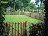 Chestnut fence rails 8cm 90cm x 460cm_