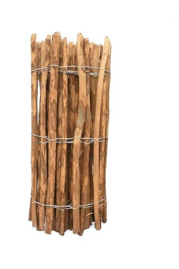 Impregnated wood chestnut fence rails 8cm - 100cm x 460cm