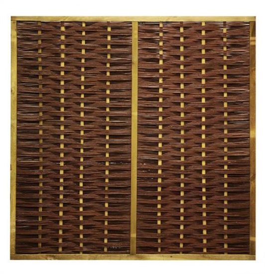 Durable framed willow fence panel 90cm x 180cm [pallet]
