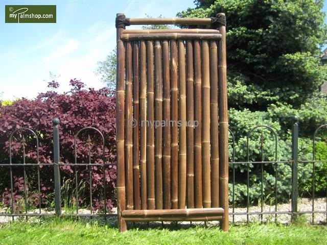 Bamboo Fence Teppan 90cm x 180cm BLACK [pallet]