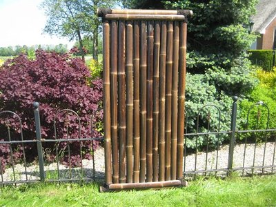 Bamboo Fence Timo 90cm x 180cm BLACK [pallet]