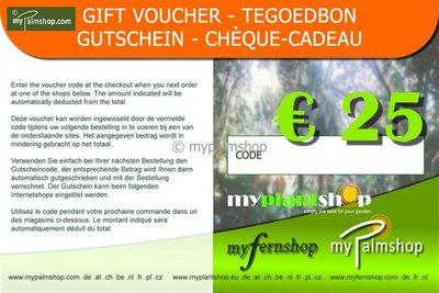 Gift voucher €25,-