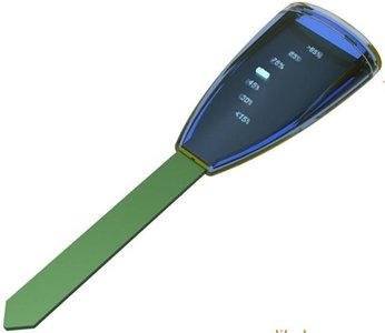 Moisture sensor with LED indicator