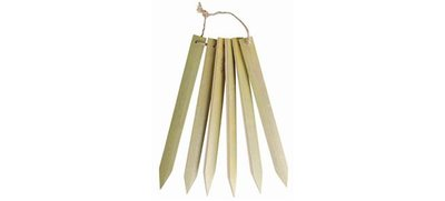 25 x Eco Natural Bamboo Lables